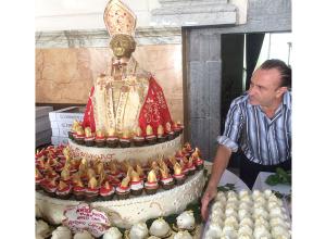 19 Settembre: la magnifica torta devozionale di Antonio Cafiero per San Gennaro!